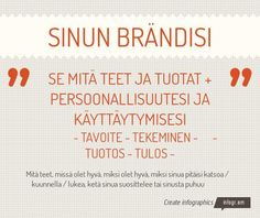 Sinun brändisi by tomlaine - Infogram Infographic, Bullet Journal, Infographics, Visual Schedules