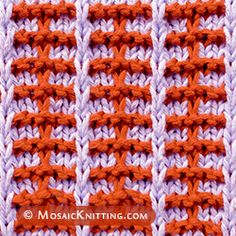 Two color slip stitch knitting. Railroad stitch. You'll need to be able to knit, purl, and slip stitches purlwise. Easy!
