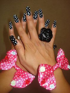 47 great nail designs...a lot of them with polka dots....This manicure is gross but the other manicures are better