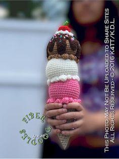 .: I Scream - You Scream... Ice Cream Free Crochet Pattern