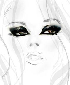 desenho sexy face: