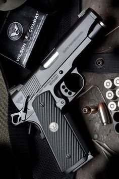 Wilson Combat 1911. guns weapons self defense protection protect knifes concealed 2nd amendment america 'merica firearms caliber ammo shells ammunition bore bullets munitions #guns #weapons  https://www.facebook.com/PreppingMeansPrepared/