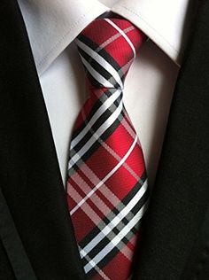 MOHSLEE New Men's Red White Black Plaids Jacquard Woven Silk Suits Tie Necktie  http://www.yourneckties.com/mohslee-new-mens-red-white-black-plaids-jacquard-woven-silk-suits-tie-necktie/
