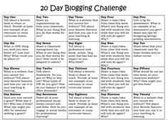 """""""The 20 day blog challenge could get students started #aussieED"""""""