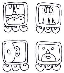 Mayan coloring sheet