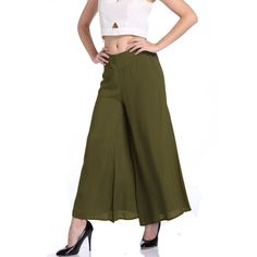b7069ebae07f3 New Plus Size Summer Fashion Women Solid Wide Leg Loose Cotton Dress Pants  Female Casual Skirt Trousers Capris Culottes