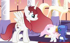 #132215 - artist:beavernator, baby, baby pony, diaper, filly, foal, lauren faust, oc:fausticorn, princess celestia, princess luna, safe, vector - Derpibooru - My Little Pony: Friendship is Magic Imageboard