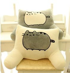 Wholesale cheap pusheen online, unisex - Find best pusheen cat big pillow cushion biscuits cat plush toy doll Of big face cat tail cat doll waist by office waist pillow at discount prices from Chinese stuffed & plus animals supplier on DHgate.com.