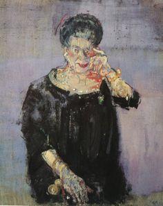 Varlin- Frau Hulda Zumsteg, 1967 Artist Art, Art History, Paintings, Illustrations, Woman, Kunst, Paint, Painting Art, Illustration