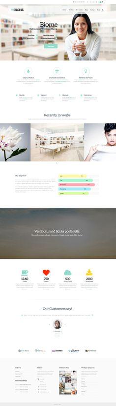 Biome - Multipurpose One Page WordPress Theme #html5themes #wordpressthemes #responsivedesign #responsivewordpressthemes