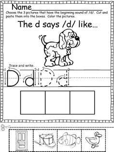 Beginning Sounds (Color, Cut and Paste!) -Repinned by Totetude.com