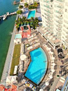 This property is situated on Biscayne Bay within a 15-minute walk of historical South Beach. The studios and suites include flat-screen TVs. Each accommodation at 1100 West Avenue features a separate living area and kitchenette. The suites have iPod docking stations and access to free Wi-Fi. Guests at the 1100 West Avenue can dine at Asia de Cuba, which serves Asian and Latin American fusion. After a meal guests can relax outside pool-side in a cabana. The hotel features a fully equ...