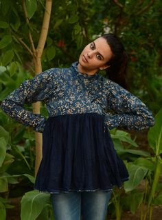 Kutchhi Kedios with a dash of design. Patches of natural died, Ajrakh printed fabric have been tastefully stitched together in traditional pattern and the result is these extremeny stylish garments. Wear them with shorts, short skirts, fitted denims, leggings or pallazos and make a statement.  Buy here ~ http://shop.gaatha.com/buy-kutchi-kariyo-12