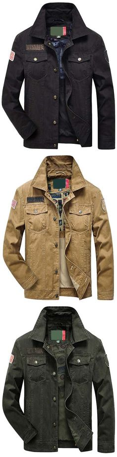 US$47.66#NIANJEEP Cargo Outdoor Casual Loose Multi Pockets Jackets for Men
