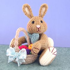 FREE Amigurumi Easter Bunny Crochet Pattern and Tutorial by Sue Pendleton