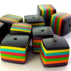 Striped beads