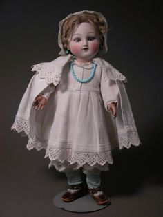 French   Dolls. She has a fully jointed, straight wristed Steiner body with paper label dated 1889 which suggests that her head may have met her body at a slightly later date.