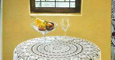 Mantel Redondo A Crochet, Rugs, Dan, Home Decor, Placemat Patterns, Crochet Tablecloth, Free Pattern, Tablecloths, Tejidos