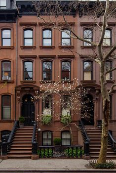 Brownstones on Perry Street, West Village. NYC