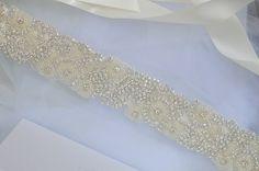 Crystal Vintage Wedding Bride Sash Belt Art by CrystalandPearlBC, £68.95