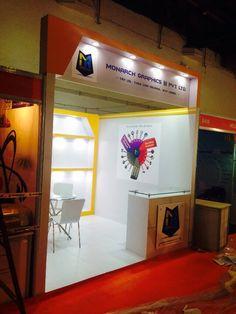 Monarch Graphics Stall Fabrication at Pragati Maidan Delhi & Design by Advocratscreations Acpl