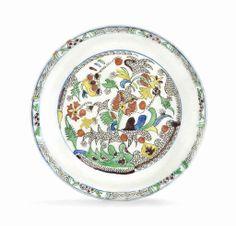 A Kutahya pottery saucer Ottoman Turkey, 18th century