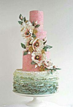 Vintage rustic cake