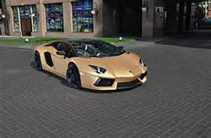 Matte Gold Lamborghini Aventador By Oakley
