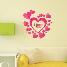 I Love You Heart Cuore Ti Amo Wall Sticker Adesivo Da Muro