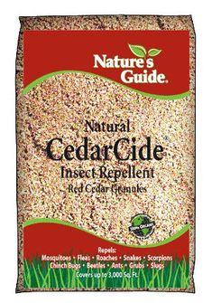 100% Red Cedar Chips spread on your lawn to prevent mosquitos and other bugs from laying eggs in your yard. 100% SAFE & NATURAL