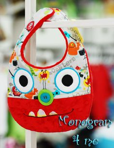 monster bib monster party baby bib cute colorful boy