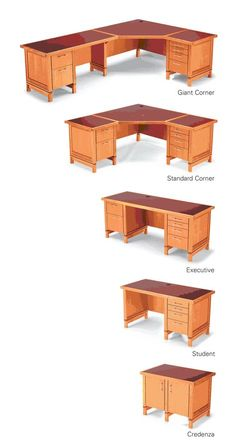"""Modular Desk System Mix-and-match components make a desk that fits your needs. By Bruce Kieffer This computer-desk system has more going for it than great looks. The system is based on modular components that can be assembled in a variety of ways to make the """"perfect"""" desk, whether small, giant-size, or somewhere in between. Making the components is as easy as it gets—no complex joinery, just screws and biscuits. I …"""