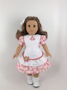 American Girl 18-inch Doll Clothes - 1930's Historical Pink Floral…