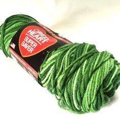 Red Heart Super Saver Yarn Worsted Weight Variegated Green Tones 0629 New Destash Knitting Crochet Supplies