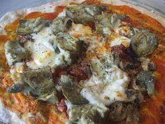 misamigoscocinan: PIZZA ALCACHOFA-BACON-CHAMPIÑONES