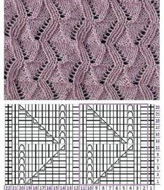 Knitting Paterns, Crochet Stitches Patterns, Lace Patterns, Lace Knitting, Knitting Stitches, Stitch Patterns, Crochet Blouse, Knit Crochet, Tricks