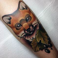 olives-and-sly-fox-tattoo-mens-forearms.jpg (600×600)