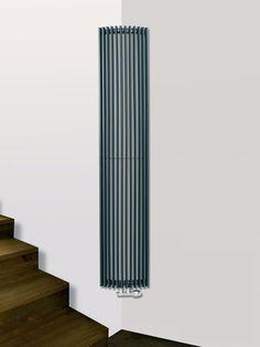 EUCOTHERM CORUS CORNER ANTHRACITE VERTICAL DESIGNER RADIATOR 1800MM X 340MM SINGLE PANEL