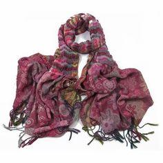 ladies scarf Pink Ruby design scarves shawls wrap neck soft fashion Floral