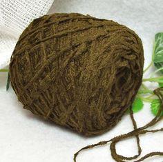 Dark Olive Green Chenille Dark Brown Green by RecycleandRepurpose