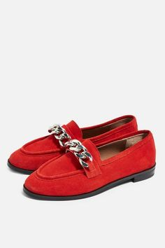 325c576f3ba Womens   Wide fit KOPPA Chain Loafers - Red