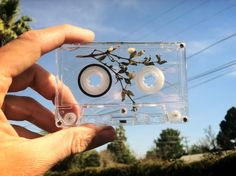 """new GLOCHIDS cassette, creosote encased within."" Vía: http://gloosticks.tumblr.com/"