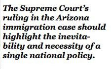 Editorial on Arizona's tough immigration law