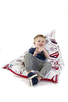 Luxurious Childrens Bean Bag PYRAMID Shape KIDS BEAN BAG READING GAMING CHAIR REVERSIBLE SNUGGLE BED READY