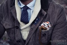 Layer up for the cold // #shawlcollar #pocketsquare #winterstyle