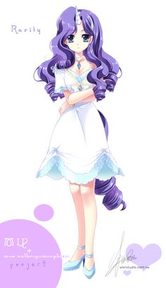[MLP]Rarity of moe anthropomorphism by ~SakuranoRuu on deviantART