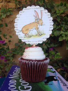 Book theme baby shower cupcake toppers/children's book cupcake picks by VOCrafted on Etsy https://www.etsy.com/listing/250083059/book-theme-baby-shower-cupcake