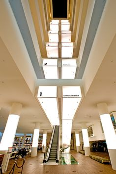 escalator at the library in Amsterdam.  This library was awesome and so modern!