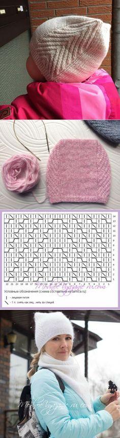 Baby Knitting Patterns Mittens Cap and snood MEOW MEOW from Tatyana Mukolas – Modnoe … Baby Knitting Patterns, Crochet Cowl Free Pattern, Baby Hats Knitting, Knitting For Kids, Knitting Stitches, Knitted Hats, Crochet Hats, Knit Crochet, Handarbeit
