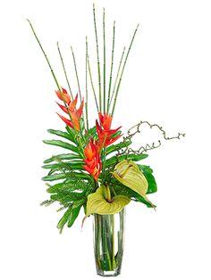 Tropical Arrangement Fl Arrangements Contemporary Flower Faux Plants